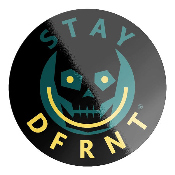 DFRNT HAPPY SKULL | C | premium sticker