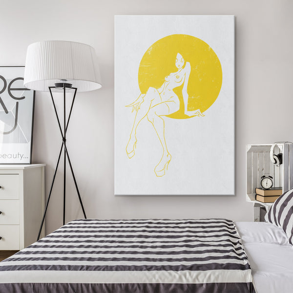 YELLOW ON WHITE | canvas print