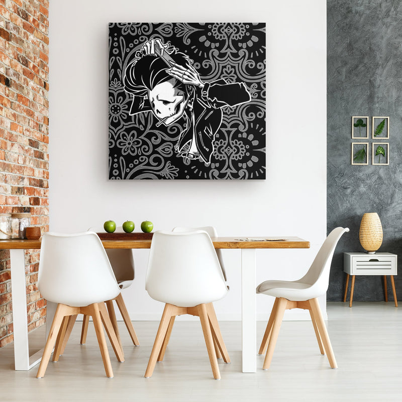 SLICK BACK | BW | canvas print