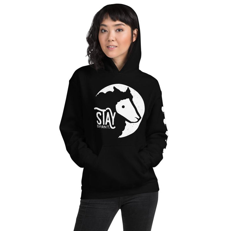 STAY DFRNT BLACK SHEEP | relaxed fit hoodie