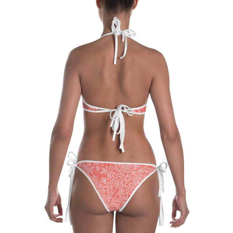 dfrnt LACE | reversible bikini - coral / red