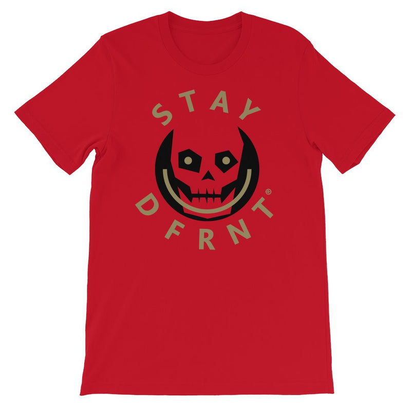 STAY DFRNT SKULL | KHAKI | t-shirt