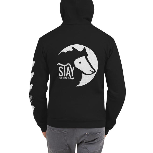 STAY DFRNT BLACK SHEEP | zipper hoodie