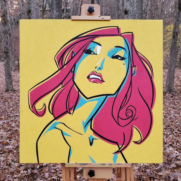 CMYK GIRL by dfrnt | original painting