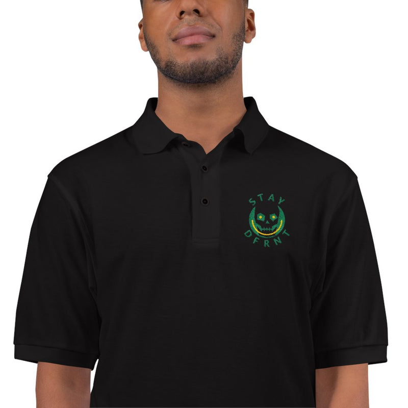 STAY DFRNT SKULL | black | embroidered polo