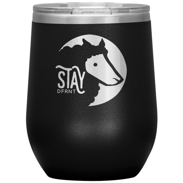 STAY DFRNT BLACK SHEEP - 12 oz wine tumbler