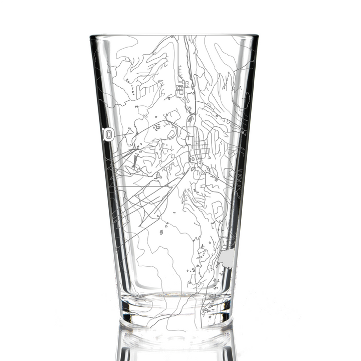 Pint Glass - Breckenridge, Colorado Map