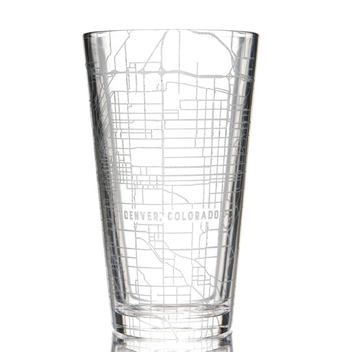 Pint Glass - Custom Map Design