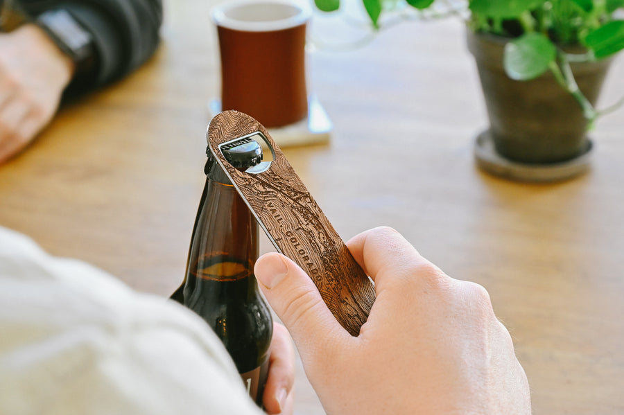Customized bottle opener etched with a detailed map of any location