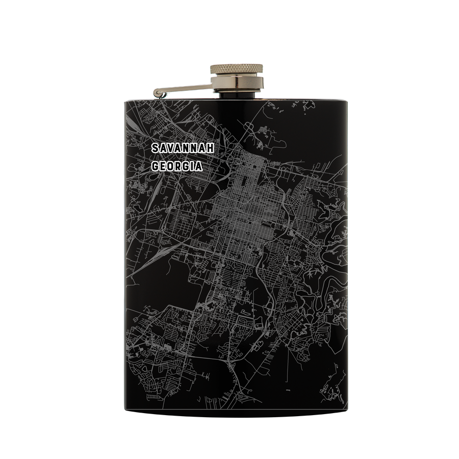 Black Flask - Savannah, Georgia Map