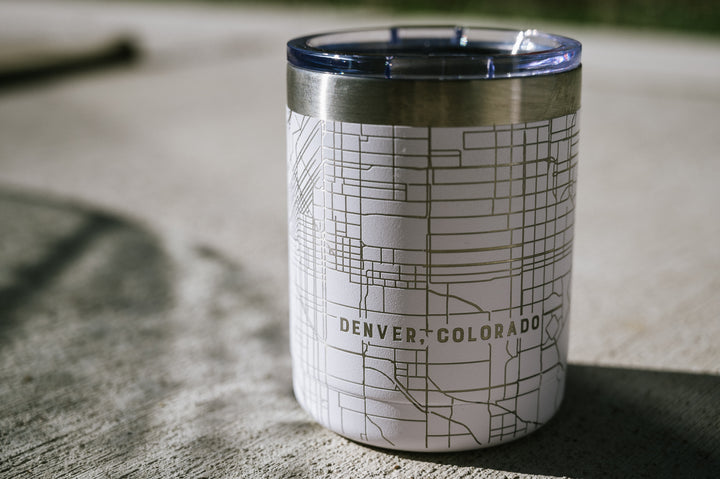 APW 10oz Stainless Steel Tumbler - Custom Map Design