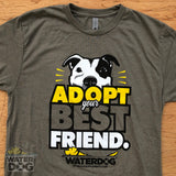 "Mens/Unisex ""Adopt Your Best Friend"" Pet Adoption T-shirt"