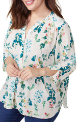 NYDJ Printed Blouse The Curvy Shop
