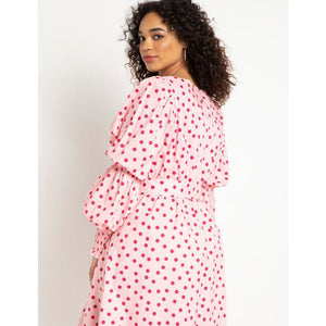 Eloquii Printed Sweetheart Midi Dress