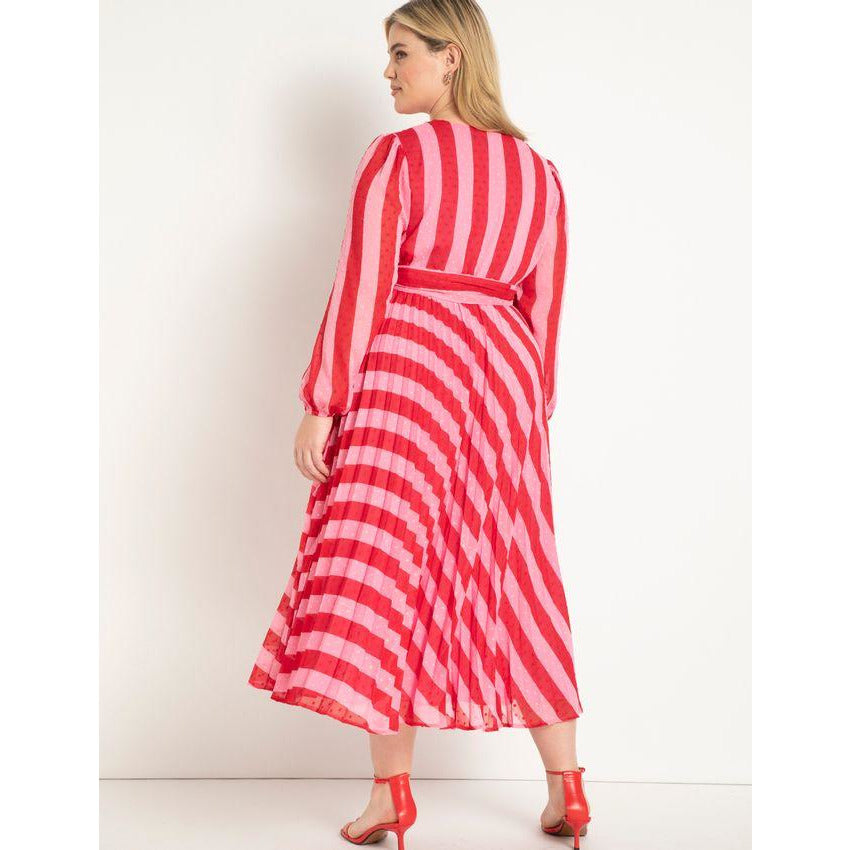 Eloquii Full Sleeve Wrap Dress