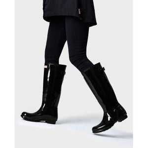 Hunter Original Tall Back Adjustable Gloss Rain Boots