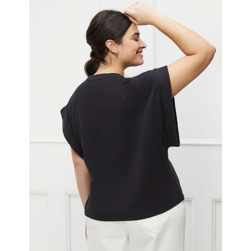 Eloquii Elements Lopped Off Sleeve Tee
