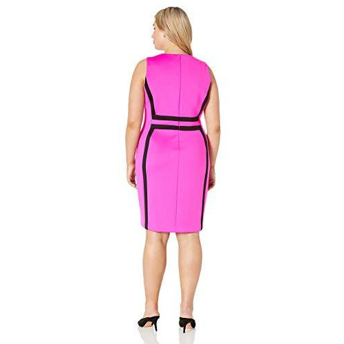 Calvin Klein Sleeveless Color Block Sheath Dress
