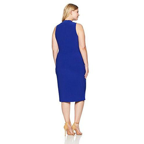 Maggy London Knot Front Sheath Dress