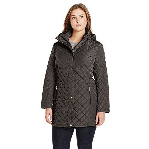 Calvin Klein Women's Quilted Jacket with Side Tabs