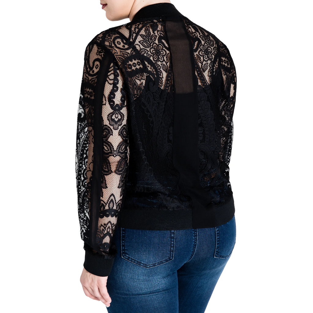 Standards & Practices Aria Lace Bomber Jacket