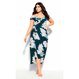 City Chic Emerald Floral Maxi Dress