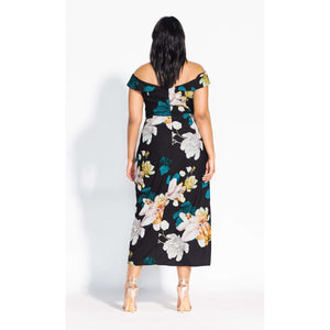 City Chic Floral Glow Maxi Dress