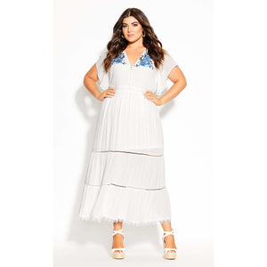 City Chic Summer Sunset Maxi Dress