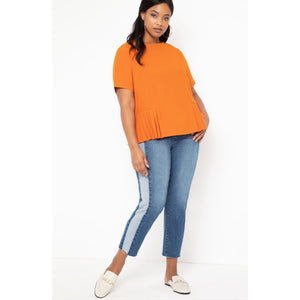 Eloquii Pleated Hem Top
