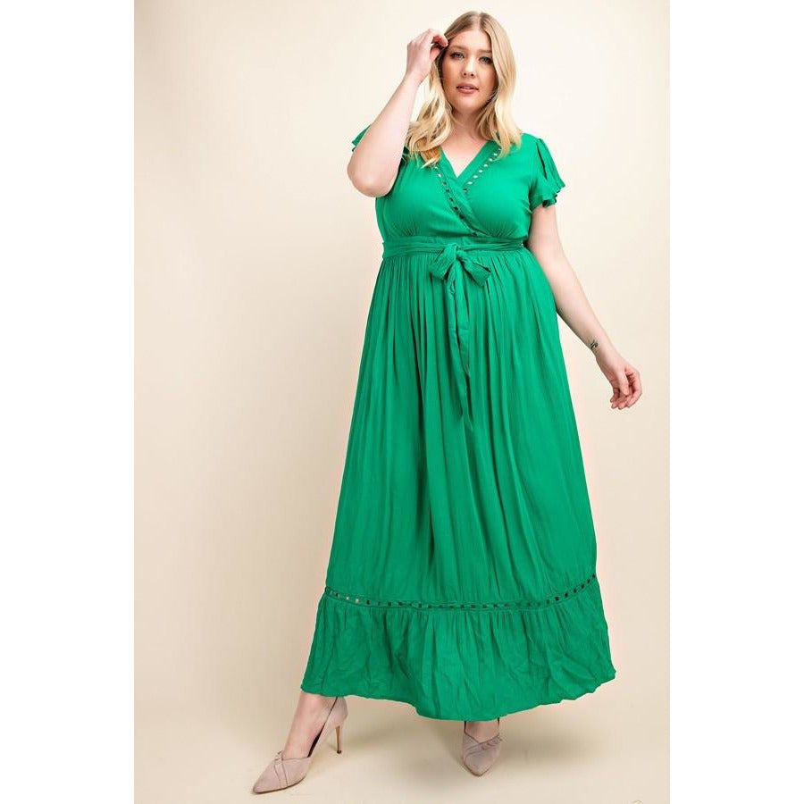 Garden Party Emerald Green Maxi Dress