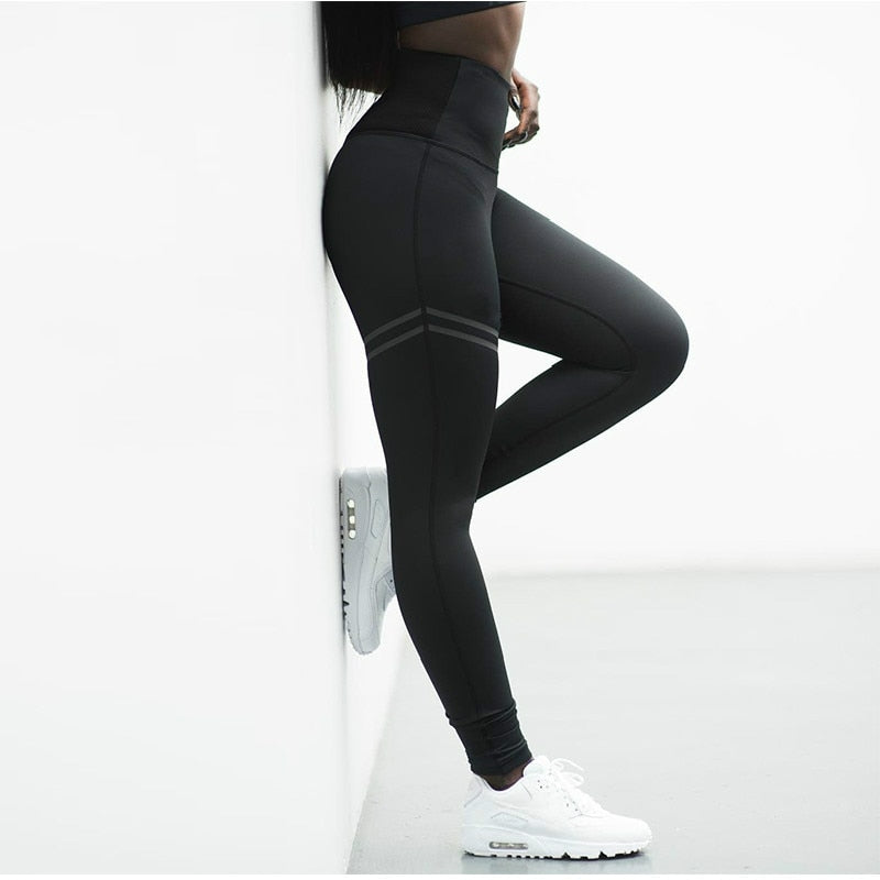 Solid Color High Waist Outdoor Leggings