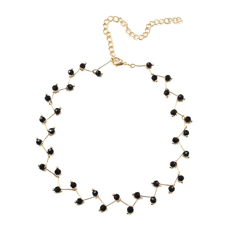Black Crystal Necklace - YOUTAAS