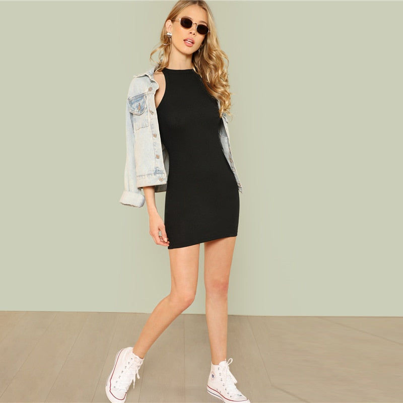 Casual Basic Bodycon Mini Dresses - YOUTAAS