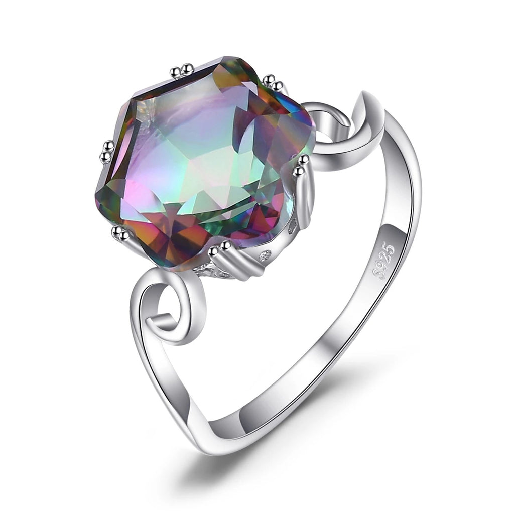 Genuine Rainbow Mystic Topaz Ring