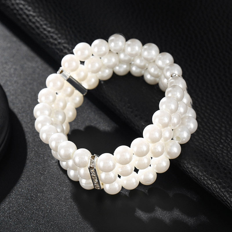 Simulated Pearl Multilayer Bracelets - YOUTAAS