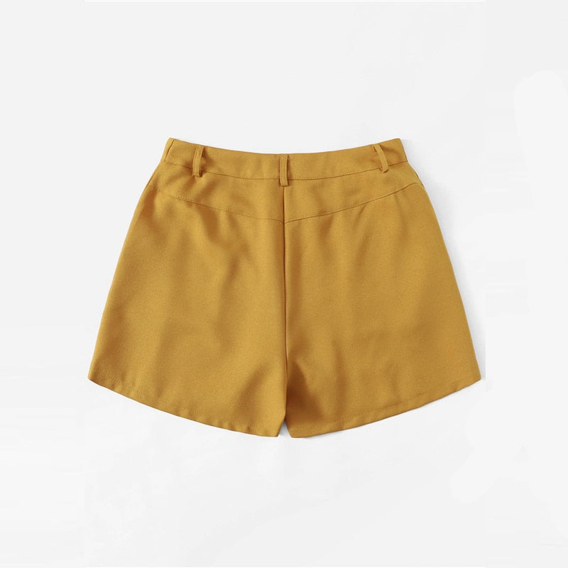 Solid Pocket Side Shorts