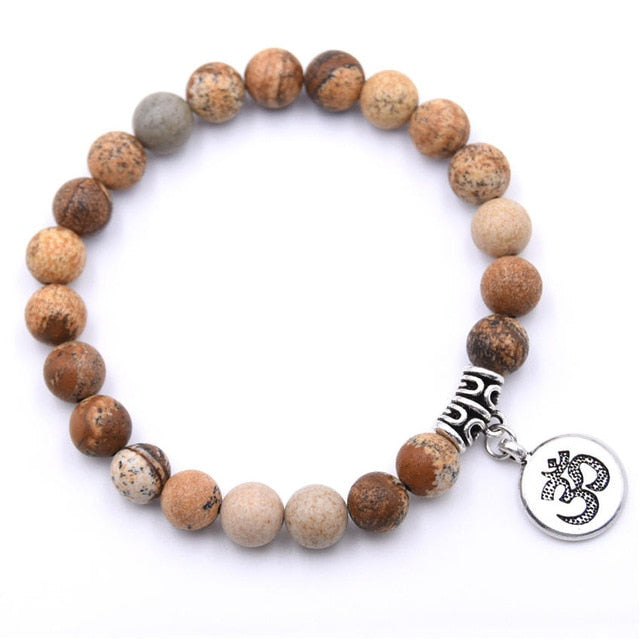 Natural Stone Strand Bracelet - YOUTAAS