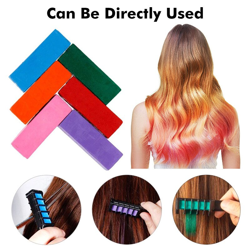 youtaas - 6pcs Hair Dye Comb Disposable Crayons