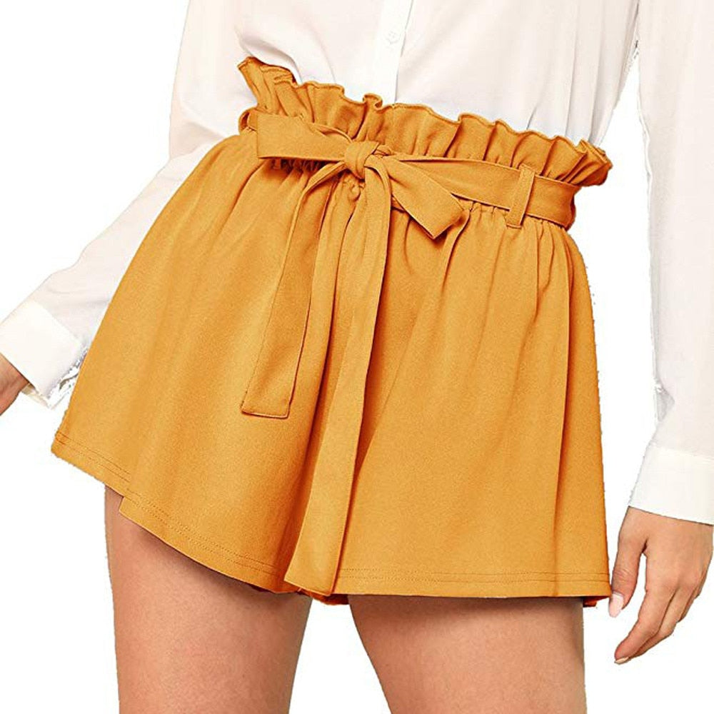 Casual High Waist Shorts - YOUTAAS