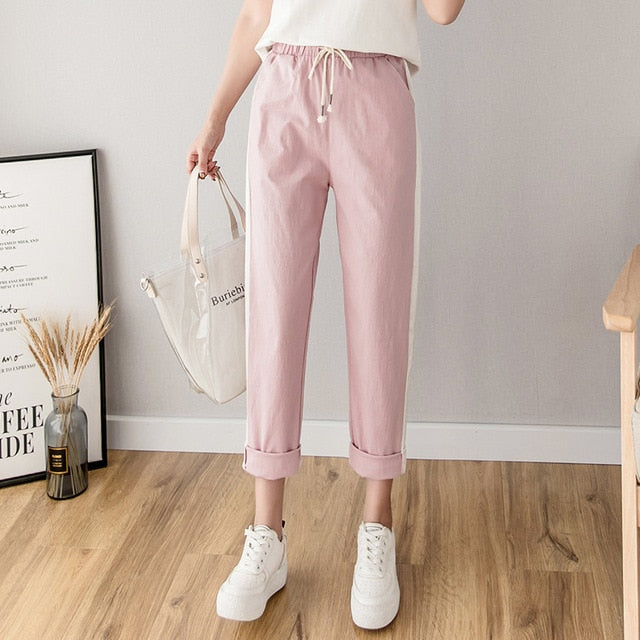 Casual Trousers Pencil Striped - YOUTAAS