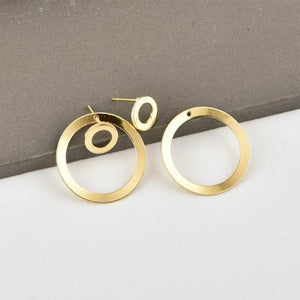 Round Hole Circle Earrings