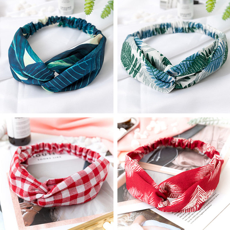 youtaas - Vintage Cross Knot Elastic Hair Bands