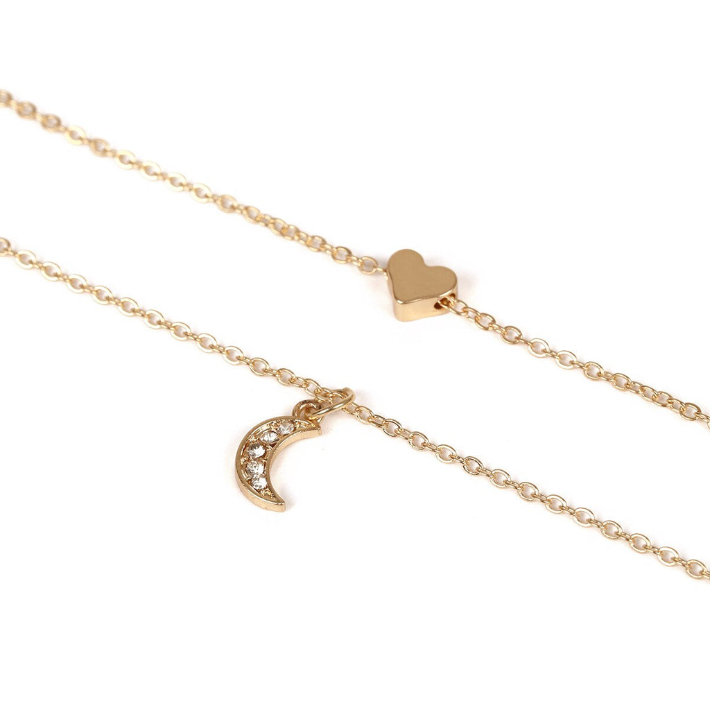 Heart Charms Moon Necklaces - YOUTAAS