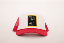 Load image into Gallery viewer, FlyBoi Standard Logo Trucker (Red/White)