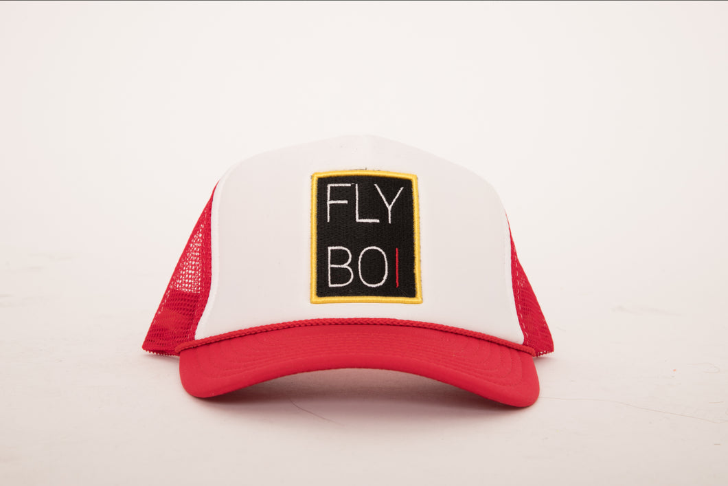 FlyBoi Standard Logo Trucker (Red/White)