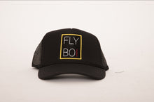 Load image into Gallery viewer, FlyBoi Standard Logo Trucker (Black)