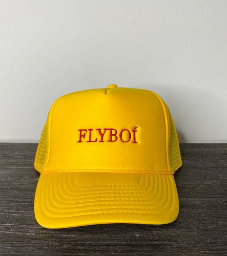 """FLYBOÍ"" Trucker Cap (Yellow)"