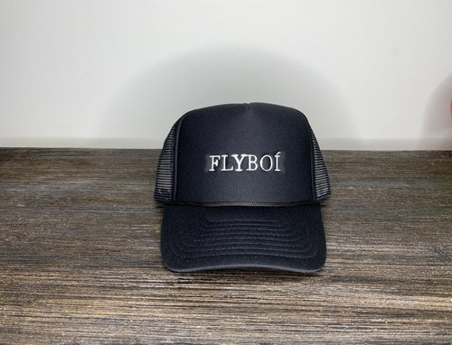 """FLYBOI"" Trucker Cap (Black)"
