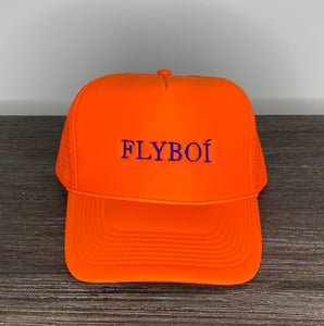 """FLYBOÍ"" Trucker Cap (Neon Orange)"