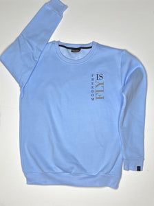 "Powder blue ""Freedom Banner"" crewneck"